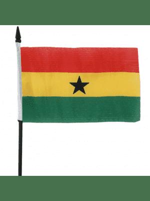 """Ghana Hand Flag - 6"""" x 4"""""""