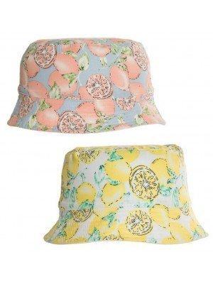 Wholesale Girls Lemon Print Bucket Hat - Assorted