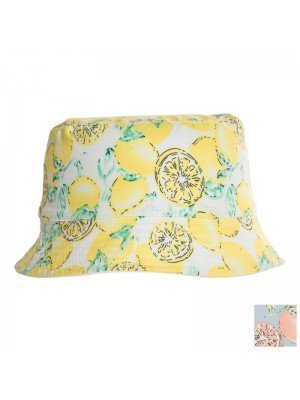 Girls Lemon Print Bucket Hat Assortment
