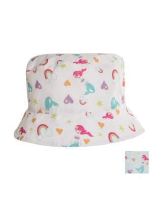 Girls Mermaid Print Bucket Hat - Assorted Colours
