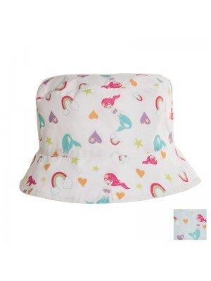 Girls Mermaid Print Bucket Hat - Assorted Colours