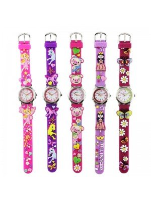 Wholesale Girls Ravel 3D Cartoon Watches- Assorted Design & Colours