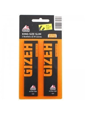 Wholesale Gizeh King Size Slim Twin Pack Rolling Papers