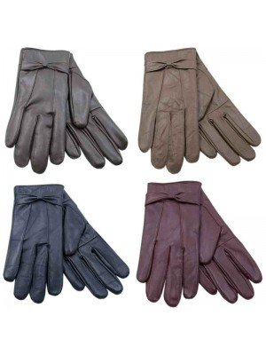 Wholesale Ladies Leather Gloves - Assorted Colours