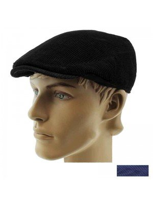 Wholesale Mens Cord Flat Cap - Assorted