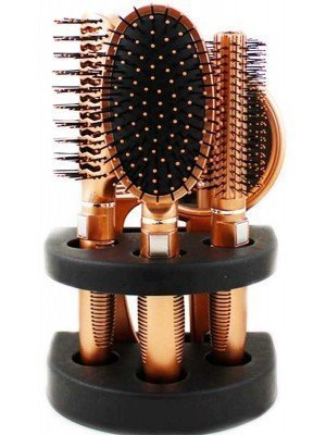 Wholesale Glamour Studio 5 PC Rose Gold Hair Brush & Mirror Set