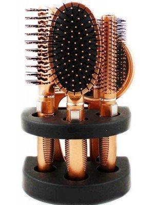 Wholesale Glamour Studio 5 PC Rose Gold Hair Brush & Mirror Set