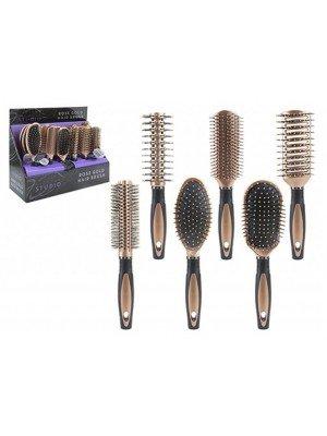 Glamour Studio Rose Gold & Black Hair Brushes - Assorted Designs