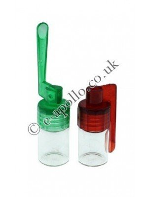 Glass Bottle Snorter with Spoon (4cm)