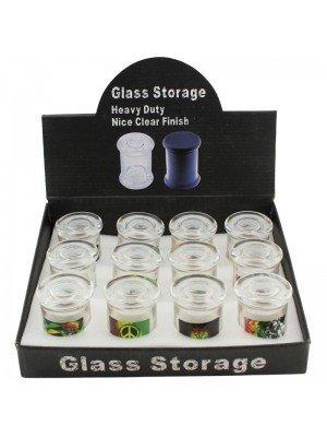 Wholesale Glass Stash Jar with Air Tight Lid - Rasta Designs
