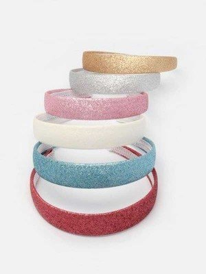 Glitter Fabric Plastic Alice Band 2.5cm Wide - Assorted Colours