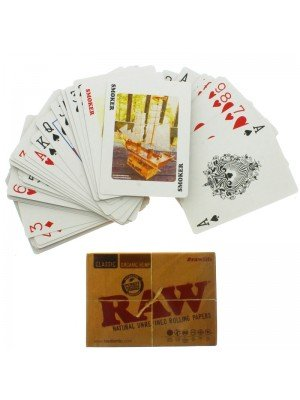 Gloss Coated RAW Playing Cards Poker Size