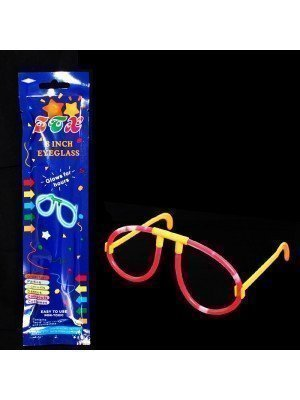 Glow In The Dark 8 Inch Eyeglasses - Assorted Colours