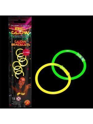 Wholesale Glow In The Dark Bright Neon Colour Bracelets - 12 Sets