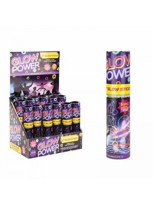 "Wholesale ""Glow Power"" Glow Sticks (Box of 20)"