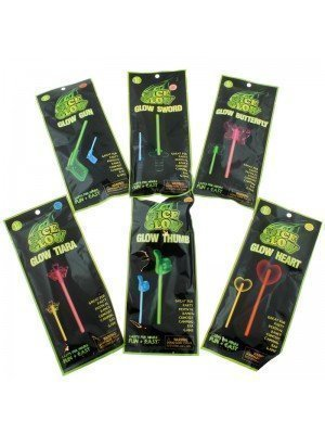Glow In The Dark Glow Sticks - Assorted Designs