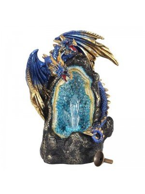 Wholesale Glowing Dragon Cave Backflow Incense Burner - Blue