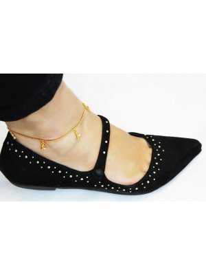 Heels Design With Diamante Anklets - Gold