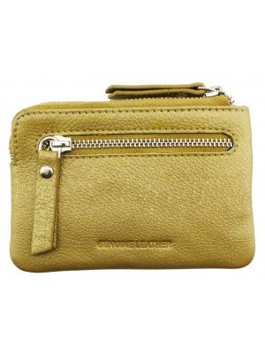 Wholesale Leather Coins & Card Holder Wallet With 6 Card Slots - Gold