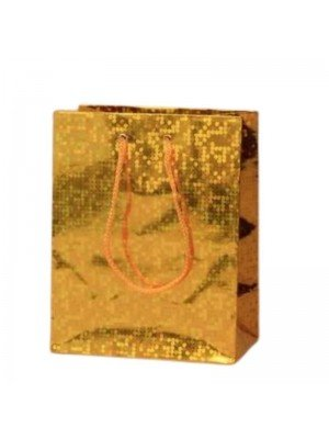 Wholesale Gold holographic paper gift bag-15x12x6cm