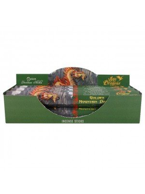 Golden Mountain Dragon Anne Stokes Incense Sticks - 6 Pack