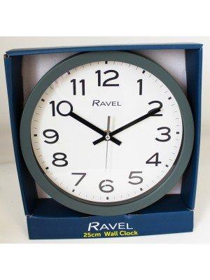Wholesale Ravel 25cm Wall Clock - Grey