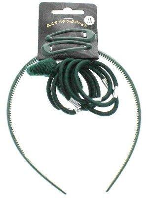 Wholesale Back to School Hair Accessory Set - Dark Green