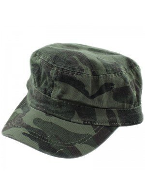 Green Camouflage Cadet Cap