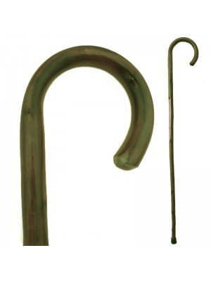 Green Chestnut Crook Walking Stick
