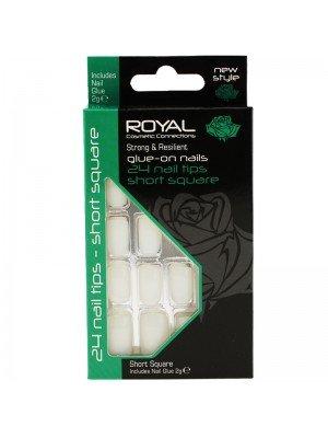 Wholesale Royal Cosmetics 'Short Square' 24 Glue-on Nail Tips