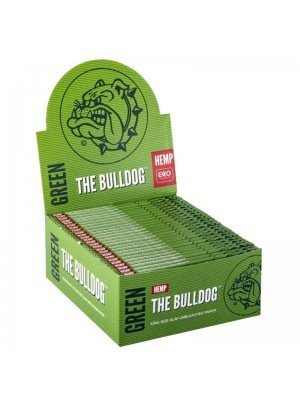 Wholesale The Bulldog King Size Slim Unbleached Paper - Green