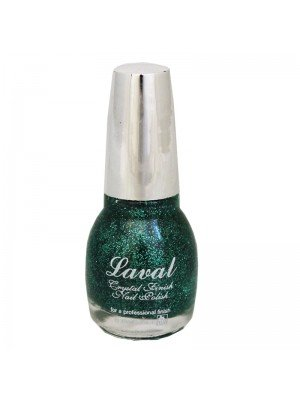 Laval Crystal Finish Nail Polish - Green Glitter