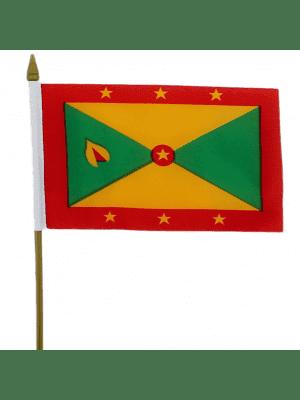 "Grenada Hand Flag - 6"" x 4"""