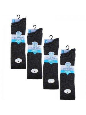 Wholesale Grey Knee High School Socks - Fresh Feel (3 Pair Pack) - (UK - 9-12)