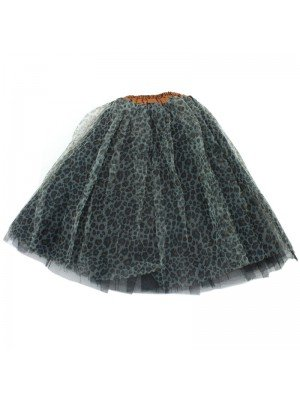Grey Tutu With A Leopard Print