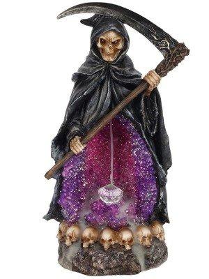 Grim Reaper Backflow Incense Burner With Light - 26cm