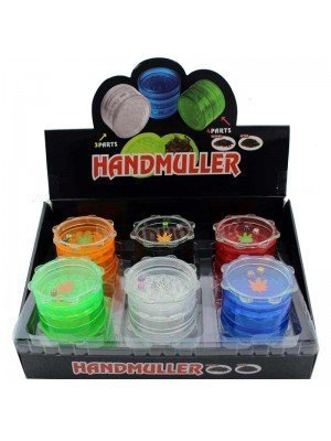 Wholesale 5-Part Plastic Grinder with Dice - Assorted Colours