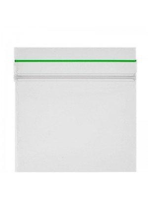 Grip Seal Plain Baggies Clear with Green Strip (50mm x 50mm)