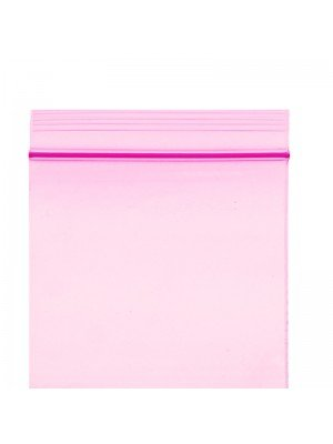 Grip Seal Plain Baggies Pink (50 x 50 mm)