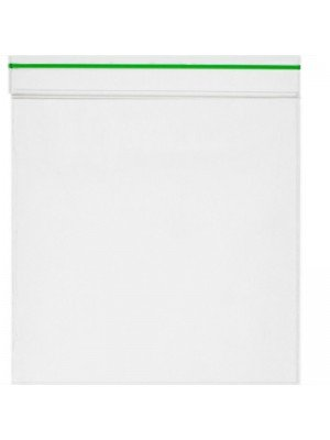 Grip Seal Plain Bags With Green Stripe (80mm x 120mm)