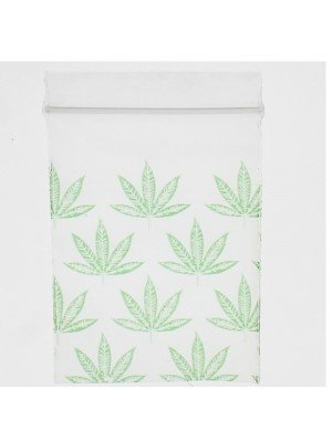 Grip Seal Printed Baggies Green Leaf Print (40 x 60 mm)