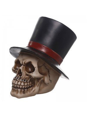 Wholesale Gruesome Groom With Top Hat Skull Figurine
