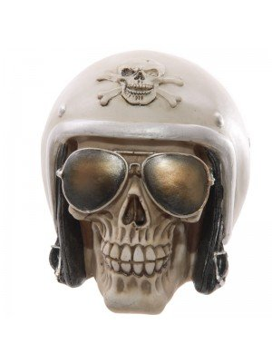 Gruesome Skull with Helmet and Sunglasses