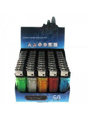 GSD Clear Disposable Lighters Assorted Colours