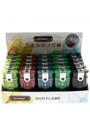 GSD Double Flame Refillable Lighters (Windproof & Electronic)