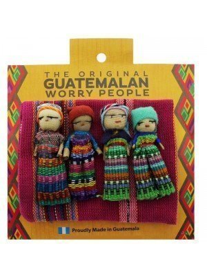 Guatemalan Large Worry Dolls In a Bag Assorted