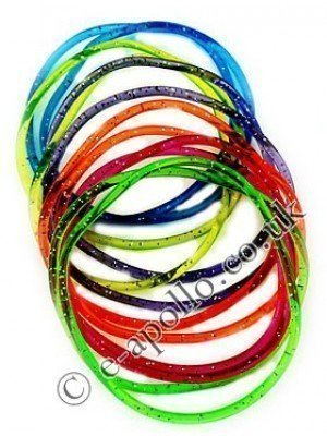 Gummy Bangles - Multicoloured with Glitter