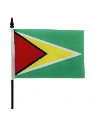 "Guyana Hand Flag - 6"" x 4"""