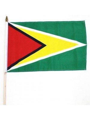 "Guyana Hand  Flag - 18"" x 11"""