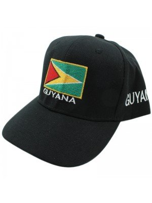 Guyana Flag Baseball Cap - Black